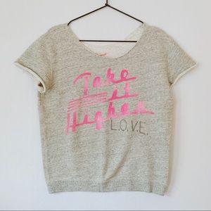 Junk Food Originals Cut off Sweatshirt Love